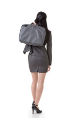 Rear view of Asian business woman