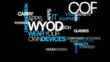 WYOD Wear your own device word tag cloud animation