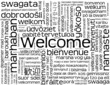 """WELCOME"" Card (customer service greetings smile reception sign)"