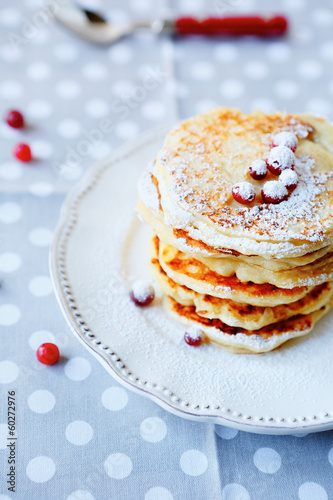 pancakes with berries for breakfast
