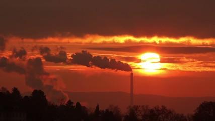 smoking chimneys afterglow