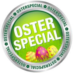 """Button """"Osterspecial"""" Ostereier grün/silber"""