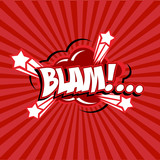 Comic speech bubbles.blam.vector illustration