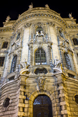 Justizpalast munich at night