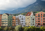 houses on River Inn in Innsbruck, Austria