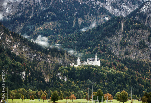 mountains around the Neuschwanstein Castle, Germany