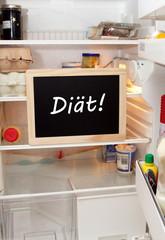 Diäterinnerung im Kühlschrank