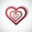 Valentine Day Card whit Hearts.