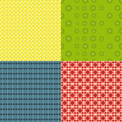 Set of  bright seamless patterns