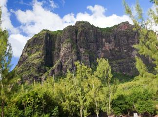 Le Morne mountain on the south of Mauritius