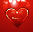 Beautiful background for valentine's day card shiny heart colorf