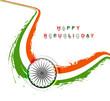 Indian flag for stylish republic day creative wave tricolor vect