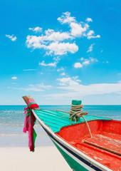 Boat at beach on daylight