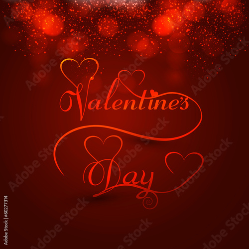 Beautiful valentine's day heart stylish text design for colorful