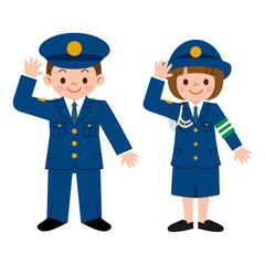 警察の格好をした子供