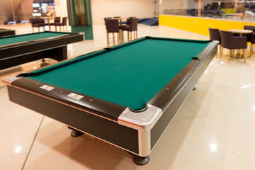 Pool Table Close Up