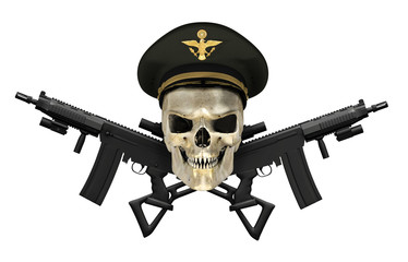 Army General Skull with Guns