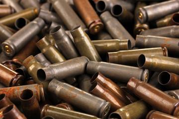 Shotgun cartridges close-up background