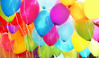 Leinwandbild Motiv bunte Luftballons