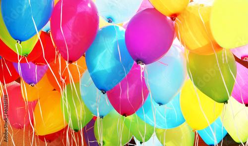 canvas print picture bunte Luftballons