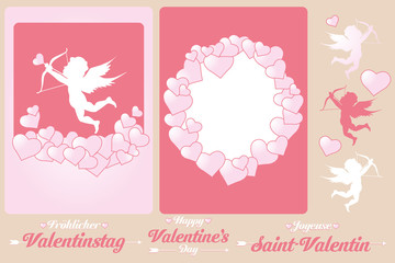Set of cards for Valentines Day