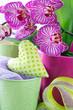 Orchideen und Herz