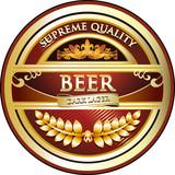 Dark Lager - Vintage Beer Label