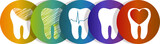 Tooth symbol set, beautiful colorful designs