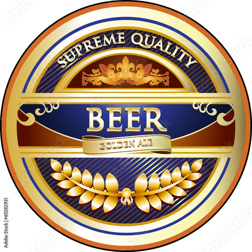 Beer Label - Ornate Vintage Design
