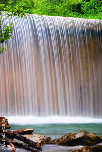 waterfall with soft water