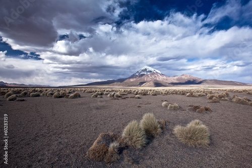 Papiers peints Cappuccino Bolivia - Sajama Volcano