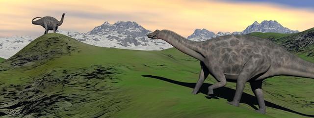 two dicraeosaurus dinosaur