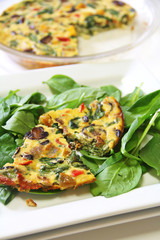 roasted vegetable fritatta vertical