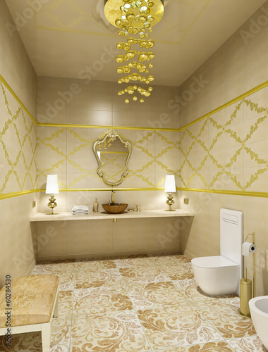 Luxury restroom interior