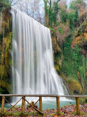 "Waterfall at the ""monasterio de piedra"", Zaragoza, Spain"