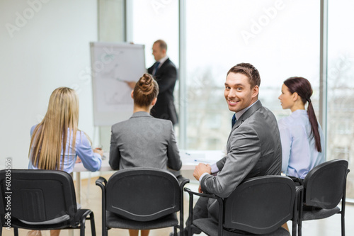 businessman with team in office