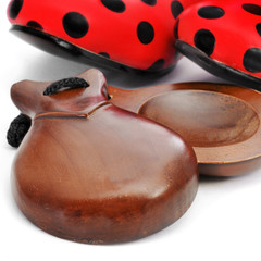castanets and typical dot-patterned flamenco shoes