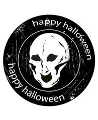 skull stamp halloween