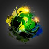 soccer ball explosion black