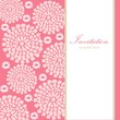 Wedding birthday card or invitation, abstract floral background