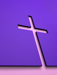 Cross under  the wall