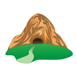 mountain and tunnel
