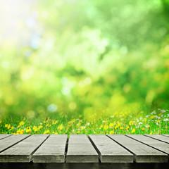 Path in sunny field