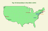 Top ten (10) university in the USA in 2013