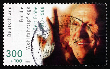 Postage stamp Germany 2000 Karl Gerhart Frobe, Film Actor