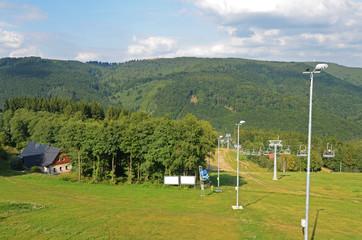 ski resort in the  summer