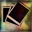 old color grunge blank photo frame