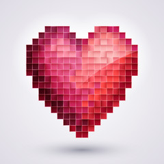 Pixel Heart. Love