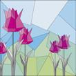 Obrazy na płótnie, fototapety, zdjęcia, fotoobrazy drukowane : origami_tulip_group_pink_04