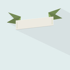 Blank green ribbon template